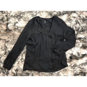 ♣️ Forever 21 | Black Professional Blouse (Large)